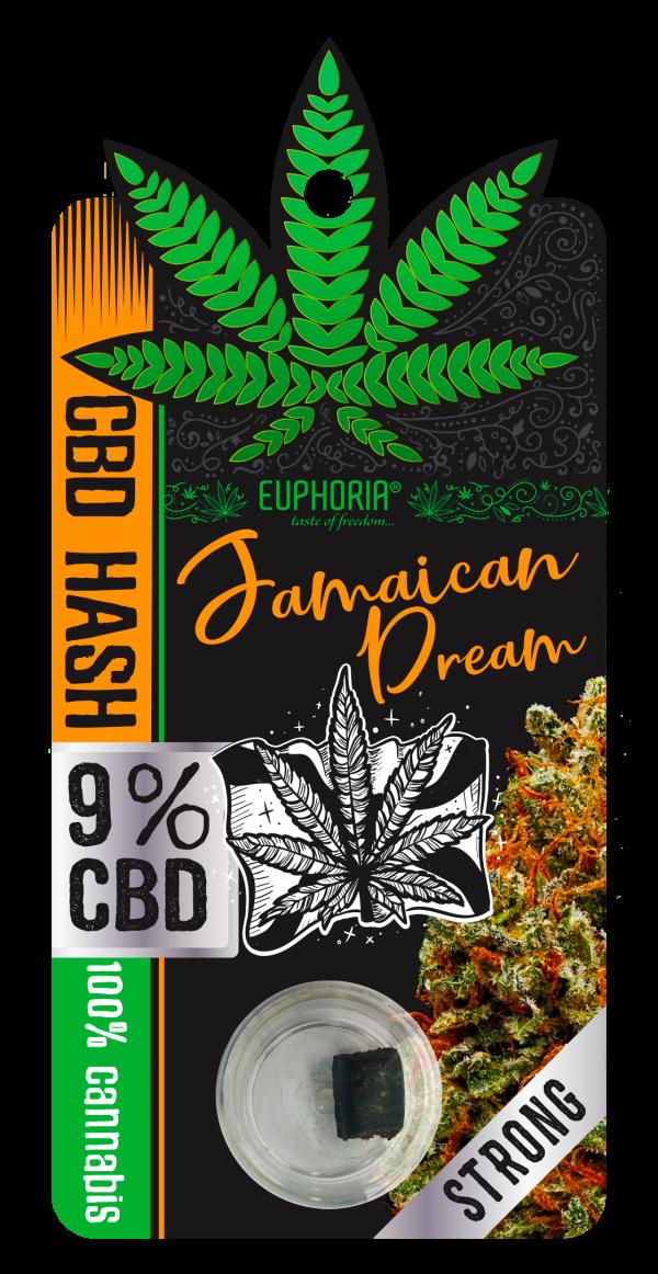CBD Żywica(hash) 9% Jamaican Dream, Nie zawiera THC Euphoria