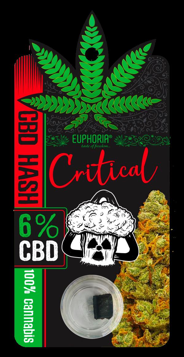 CBD Żywica(hash) 6% Critical, Nie zawiera THC Euphoria