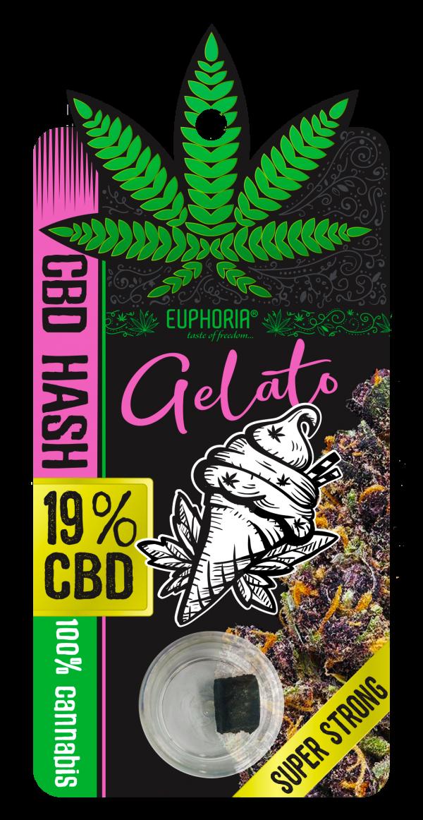 CBD Żywica(hash) 19% Gelato, Nie zawiera THC Euphoria