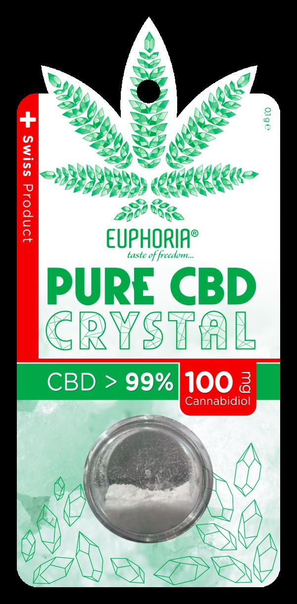 CBD Kryształ Czysty 100% 500mg, Nie zawiera THC Euphoria