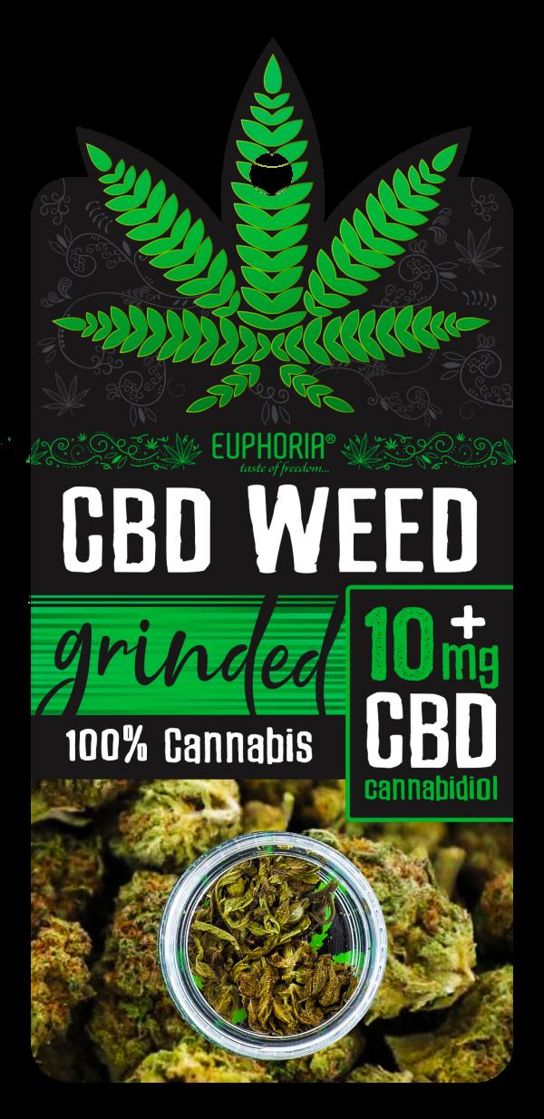 CBD Susz ok. 1g, Grinded + 10mg CBD, Nie zawiera THC Euphoria